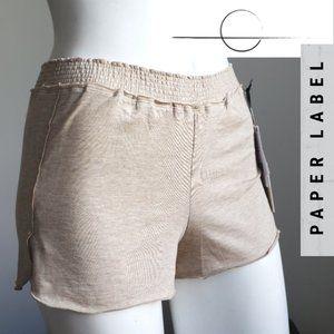 Paper Label High Waist Lounge Shorts Heathered Tan